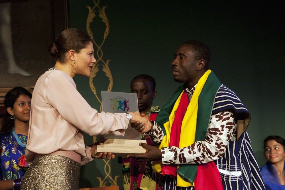 James Kofi Annan receiving Worlds Childrens Prize 2013