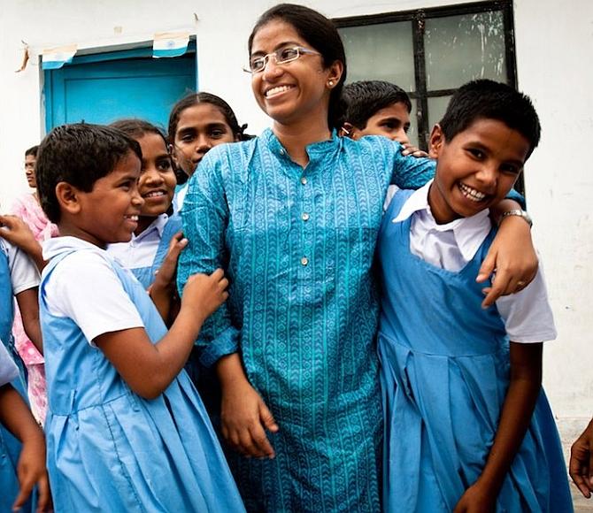 Prajwala - Sunitha Krishnan with rescued children (2).jpg