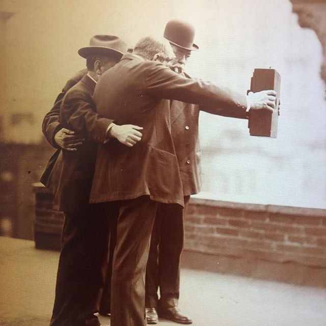 The first ever selfie #satchigallery