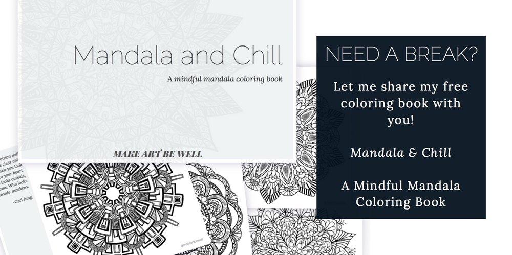 Mandala And Chill A Mindful Mandala Coloring Book