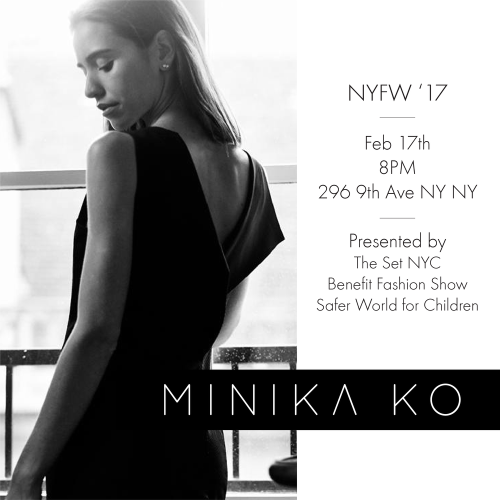 Minika Ko Benefit Fashion Show Flyer. Photo credit: Tom Concordia