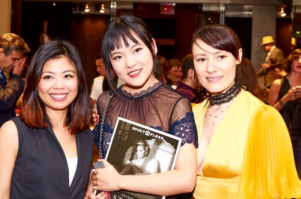 From Left to Right: Fashion Designer mentor Minika Ko, SVA Student Xueyi Zhang, Spirit & Flesh Magazine Yelena Deyneko