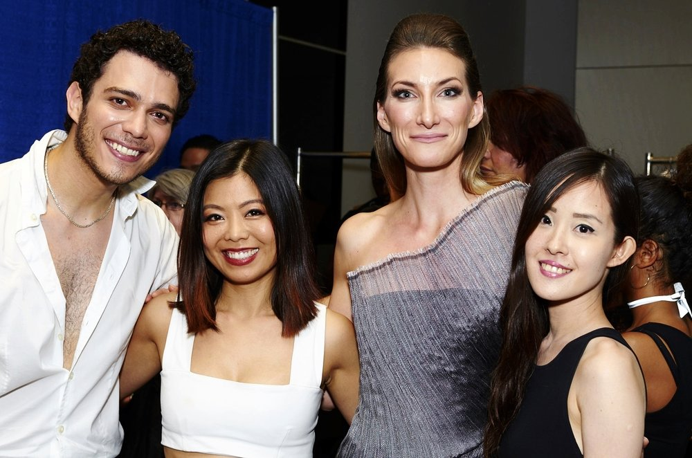Left to right: violinist Matheus Garcia Souza, fashion designer Minika Ko, opera singer Anna Cley, and composer Hung Ping Chang. Photographed by Jose Juarez.