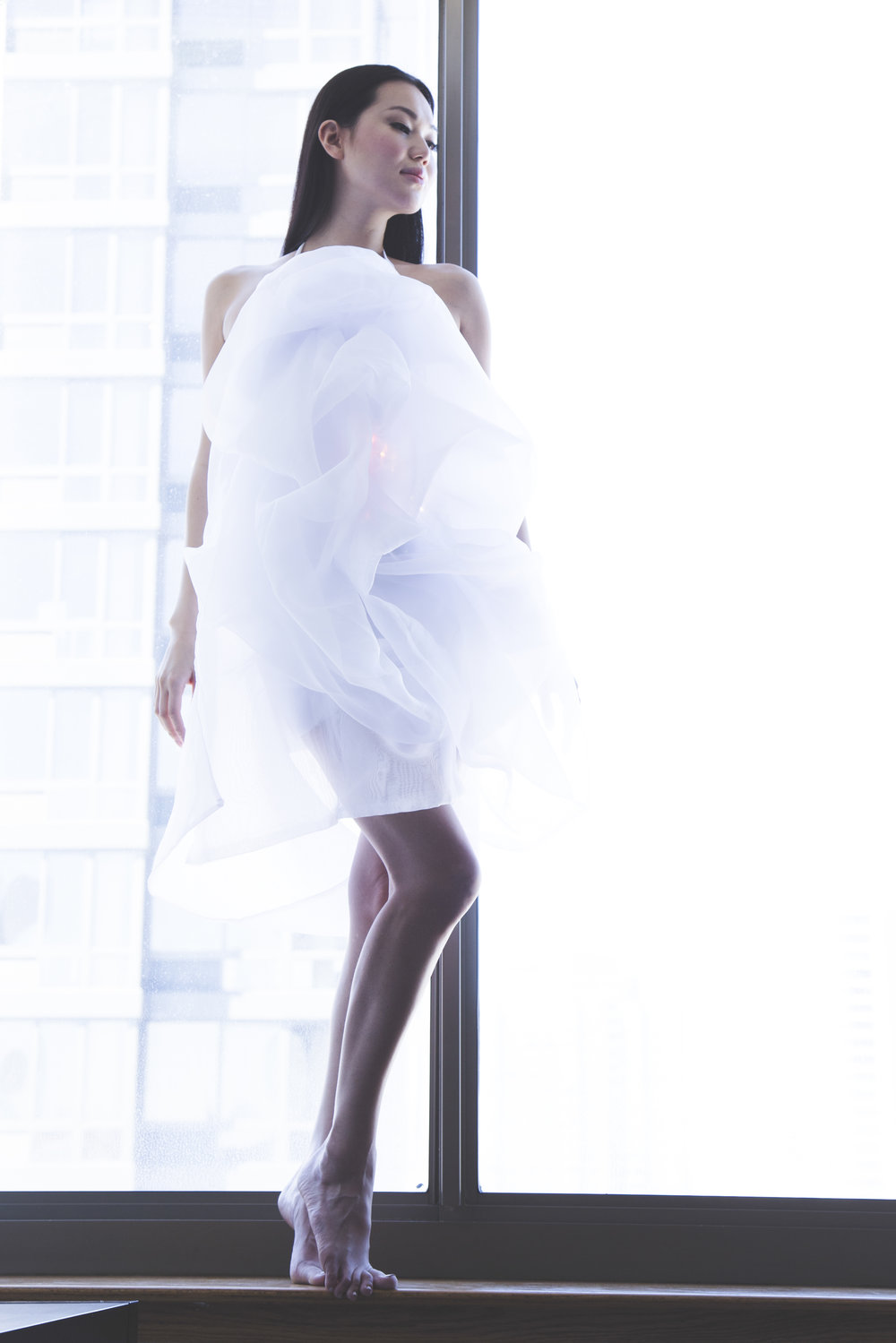 Minika Ko's CloudDress. Photographed by Kevin Ruano
