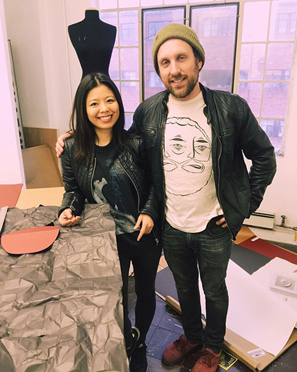 Fashion designer Minika Ko and Denver artist Derek Keenan