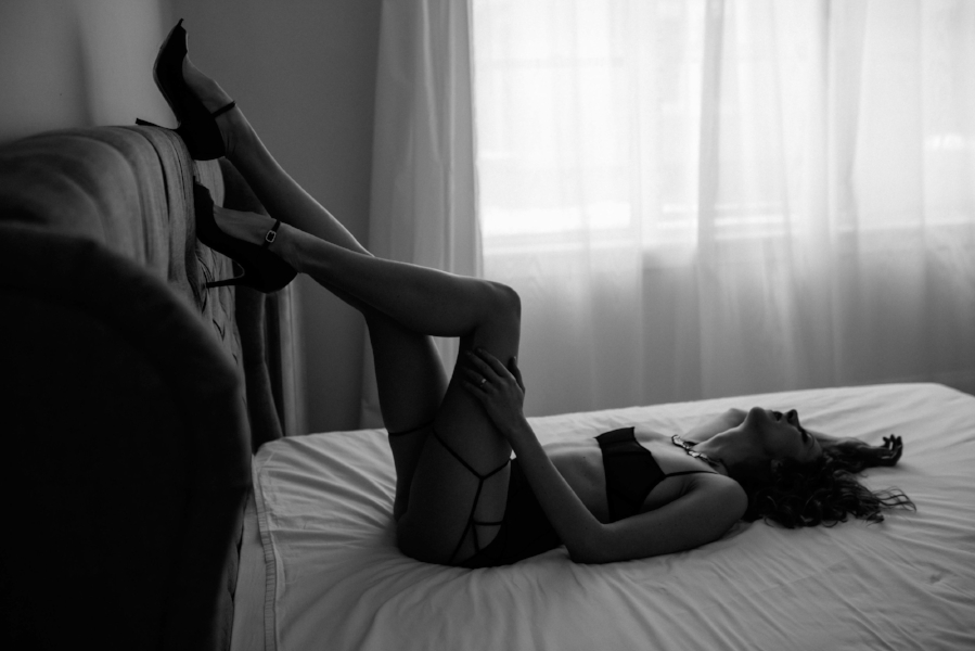 Boston Boudoir Straps and Heels Photo