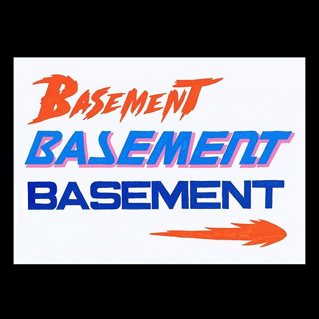 Some hand rendered type for @basementuk ☄️ Something exciting going down! 🔥🌊