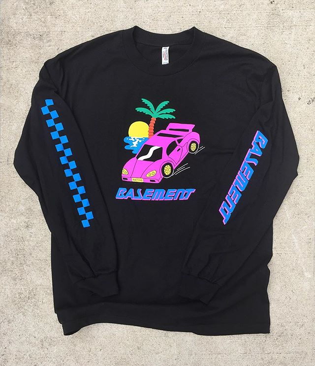 Long sleeve design 4 @basementuk 🏁🔥 Grab one from their USA tour now 🌴💕