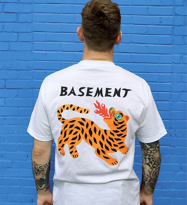 Tshirt design 4 @basementuk ☄️ You can grab one for yourself on their USA tour now 🌊✨