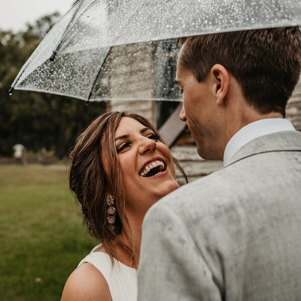 Real Wedding // Never letting a little rain dampen their day, Rach & Voss' super fun wedding now featured on @polkadotbride, link in bio, tap for suppliers.