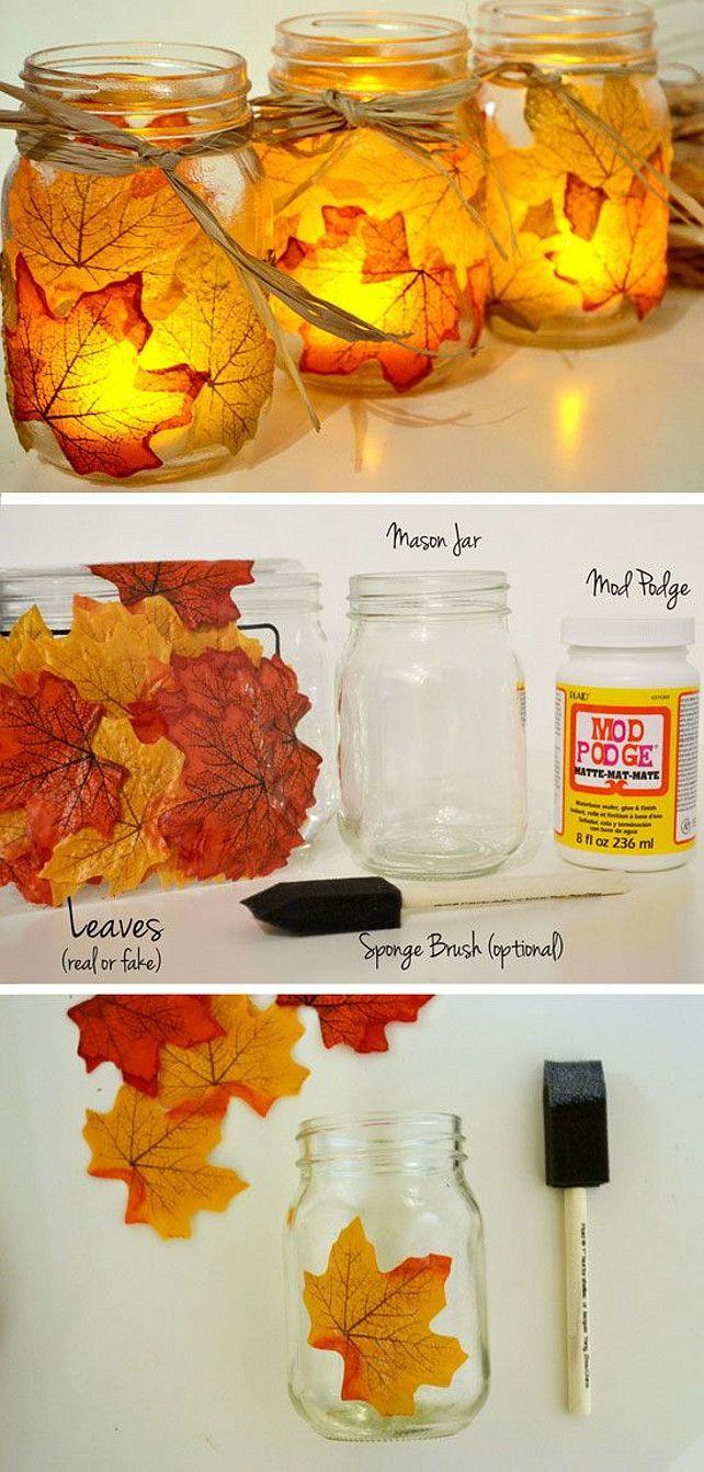 Fall Decor: Mason Jars