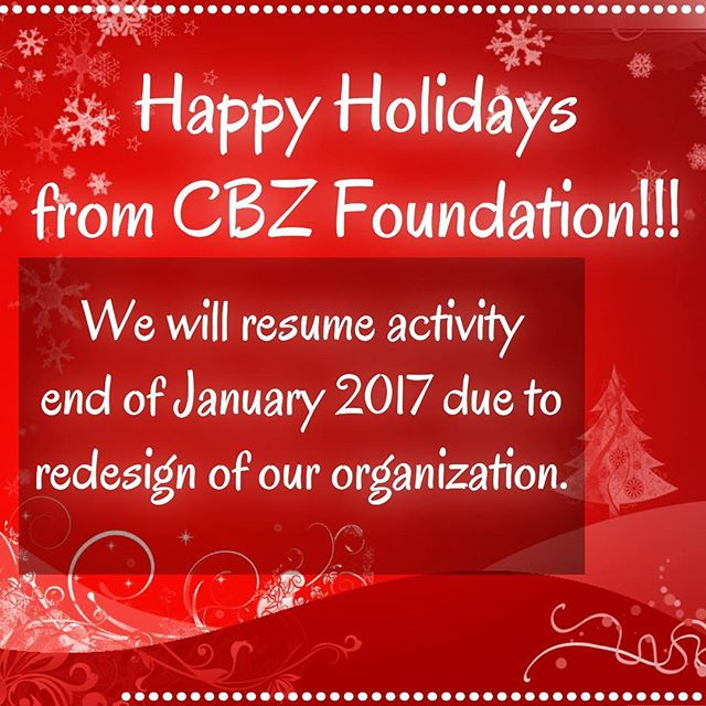 Happy Holidays to our wonderful Dancesport community from CBZ Foundation! We have been redesigning the organization under a new platform and apologize for the hiatus and to those who have been inquiring about our scholarships. We will resume all activity and of January 2017! Until then - keep practicing, laughing, and spreading the love of dance among those around you!