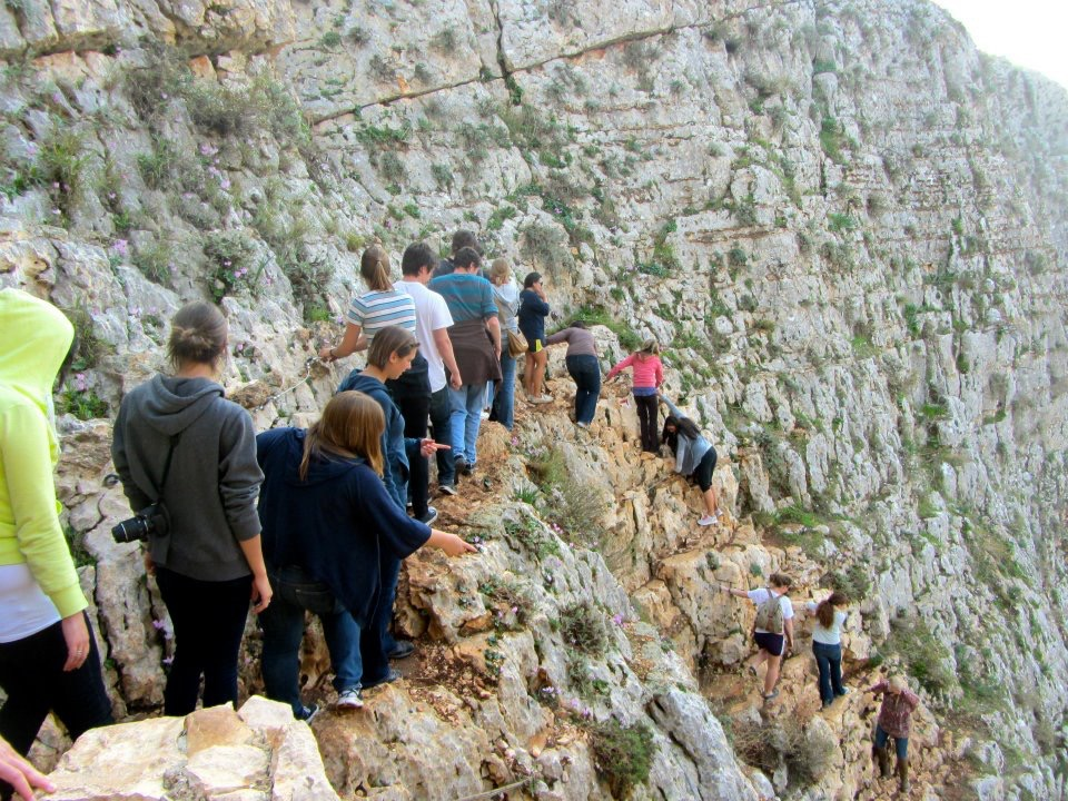 hiking down arbel.jpg