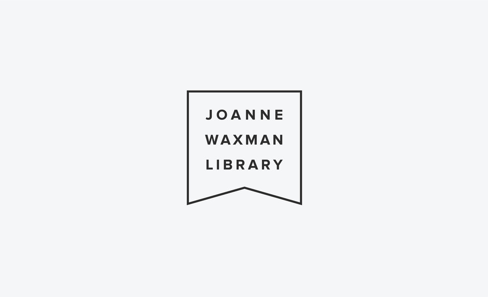 Click through to view brand identity. Joanne Waxman Library Brand Identity