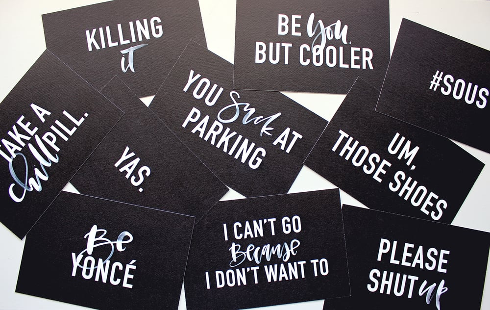 Fun cards to fill out and give to friends, co-workers, family or strangers | Wilde House Paper