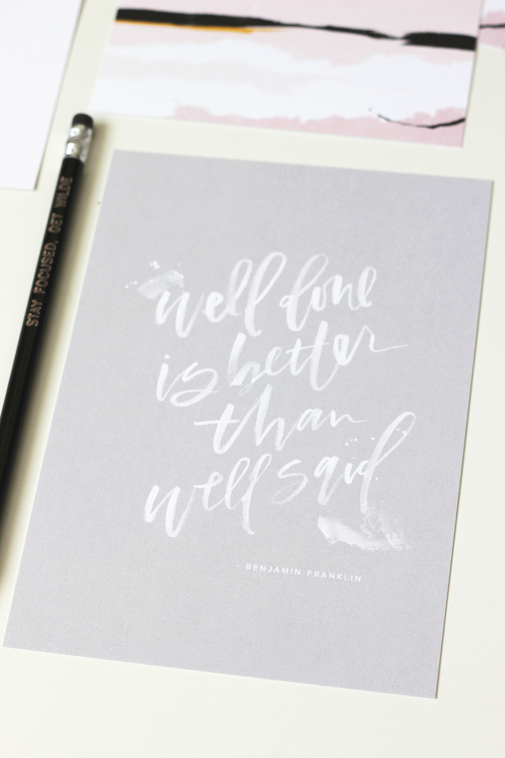 Motivational desk print from the March box | Wilde House Paper