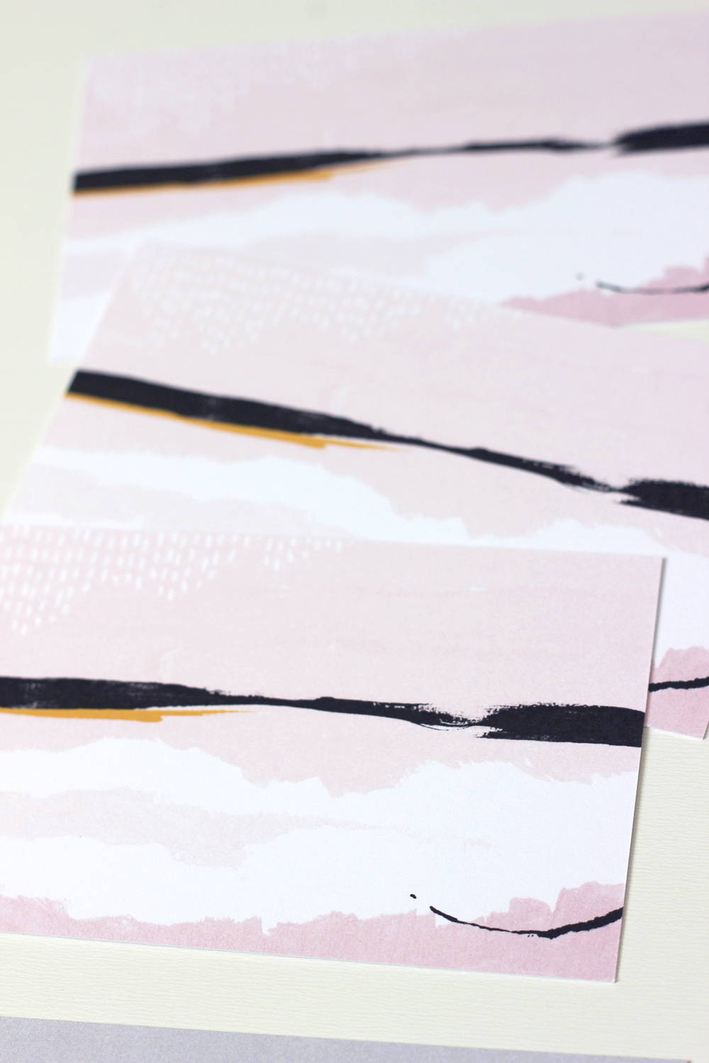 Custom art on backs of personalized notecards | Wilde House Paper