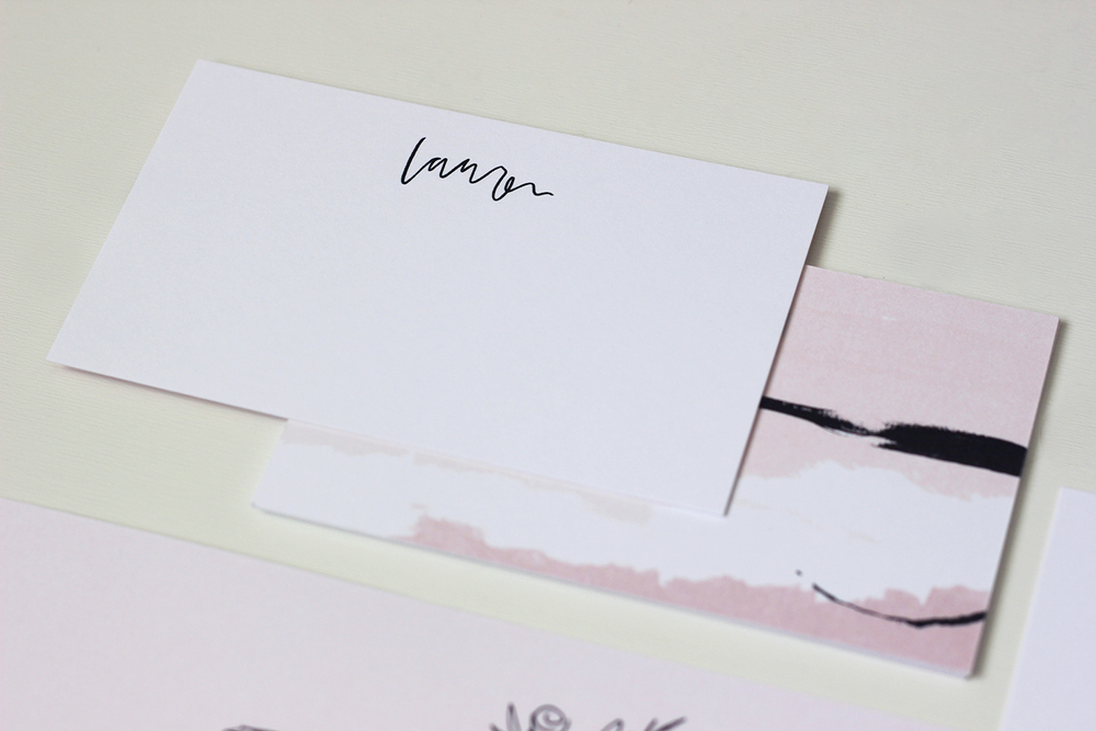 Personalized notecards from the March Box | Wilde House Paper