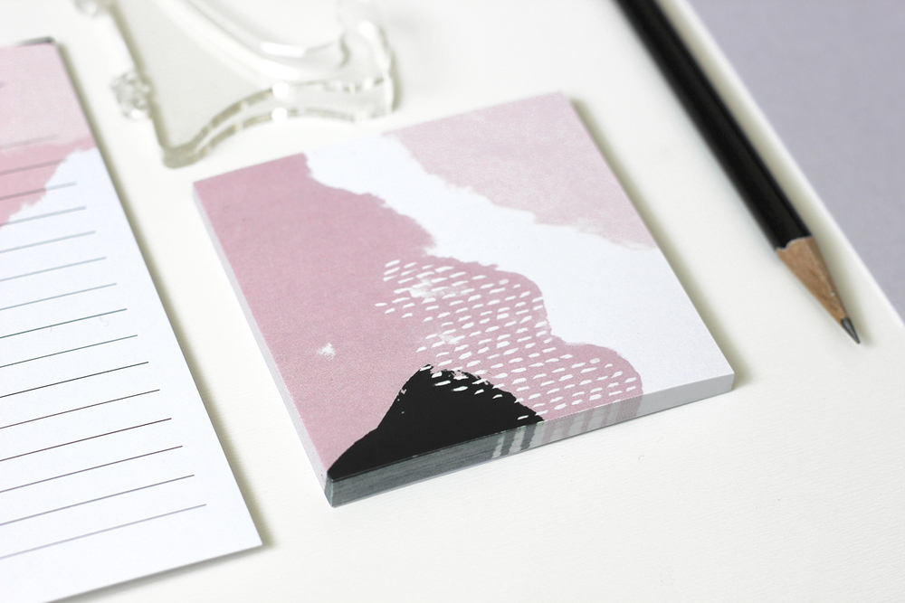 Custom art sticky notes | Wilde House Paper