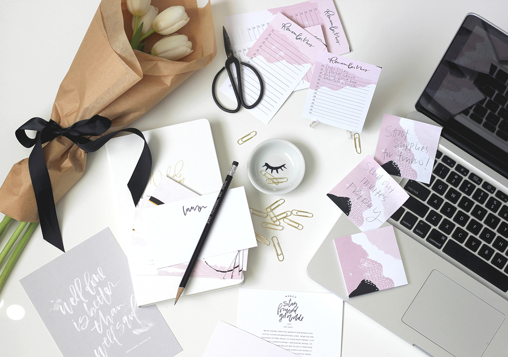 Desk scene with the new March Wilde box | Wilde House Paper