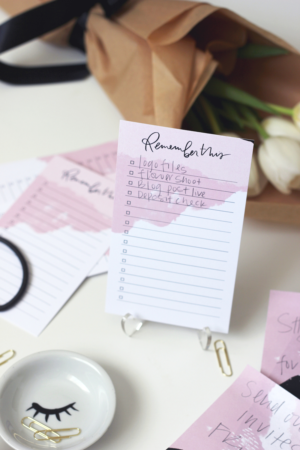 Making to-do lists pretty with our custom art version from the March Box | Wilde House Paper