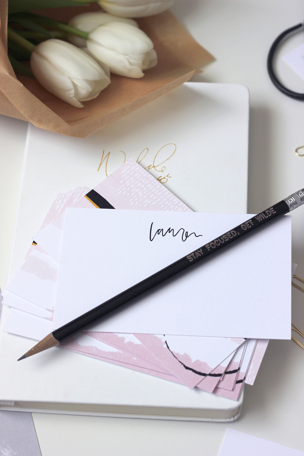 Custom stationery for your desk from our March Box | Wilde House Paper