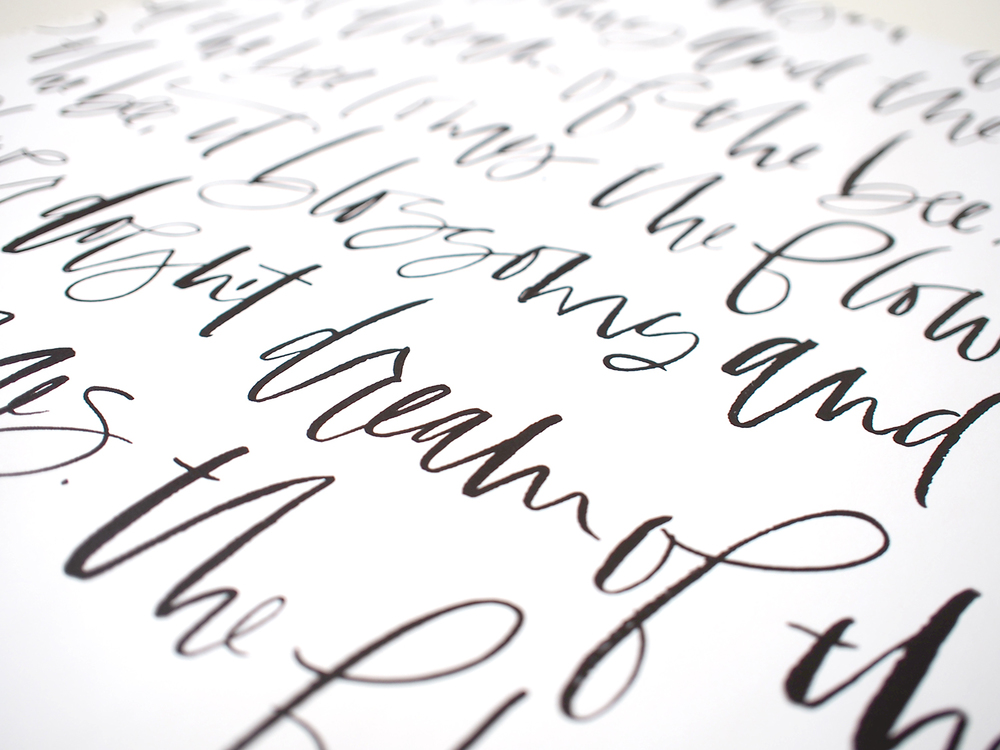 Calligraphy wrapping paper | Wilde House Paper