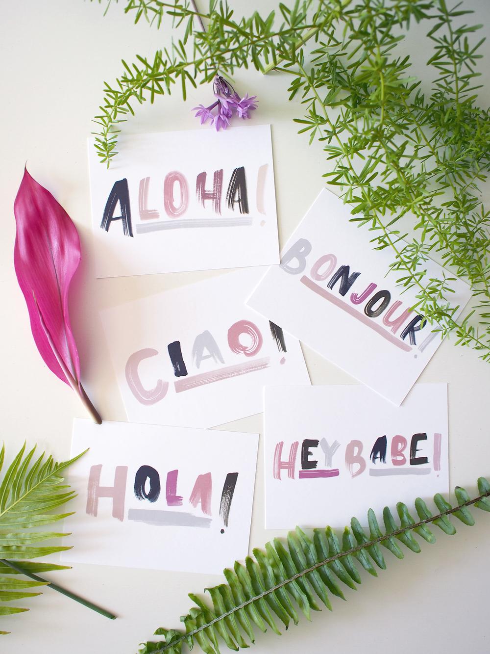 fun greetings postcards | wilde house paper