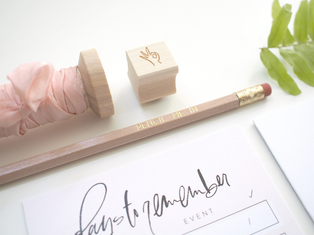 custom stamp for stationery | Wilde House Paper