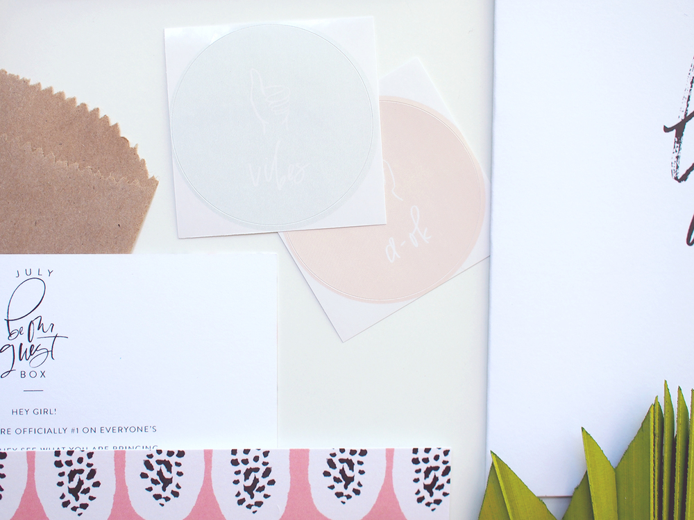 pink, yellow and mint stickers | Wilde House Paper