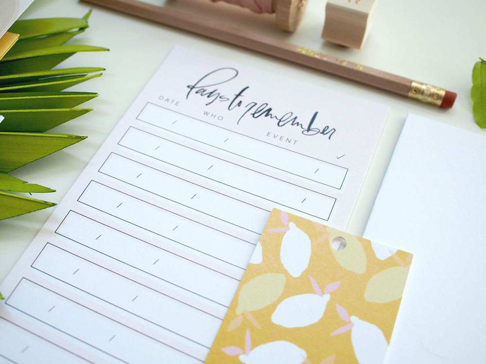 summer to do list | Wilde House Paper