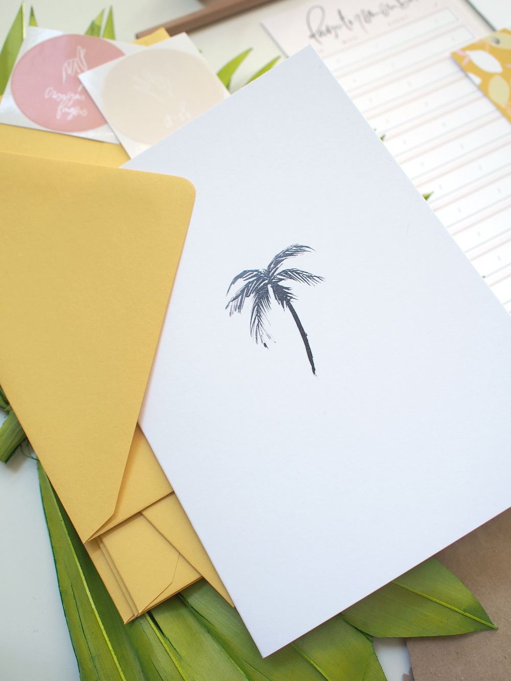 palm tree print card | Wilde House Paper