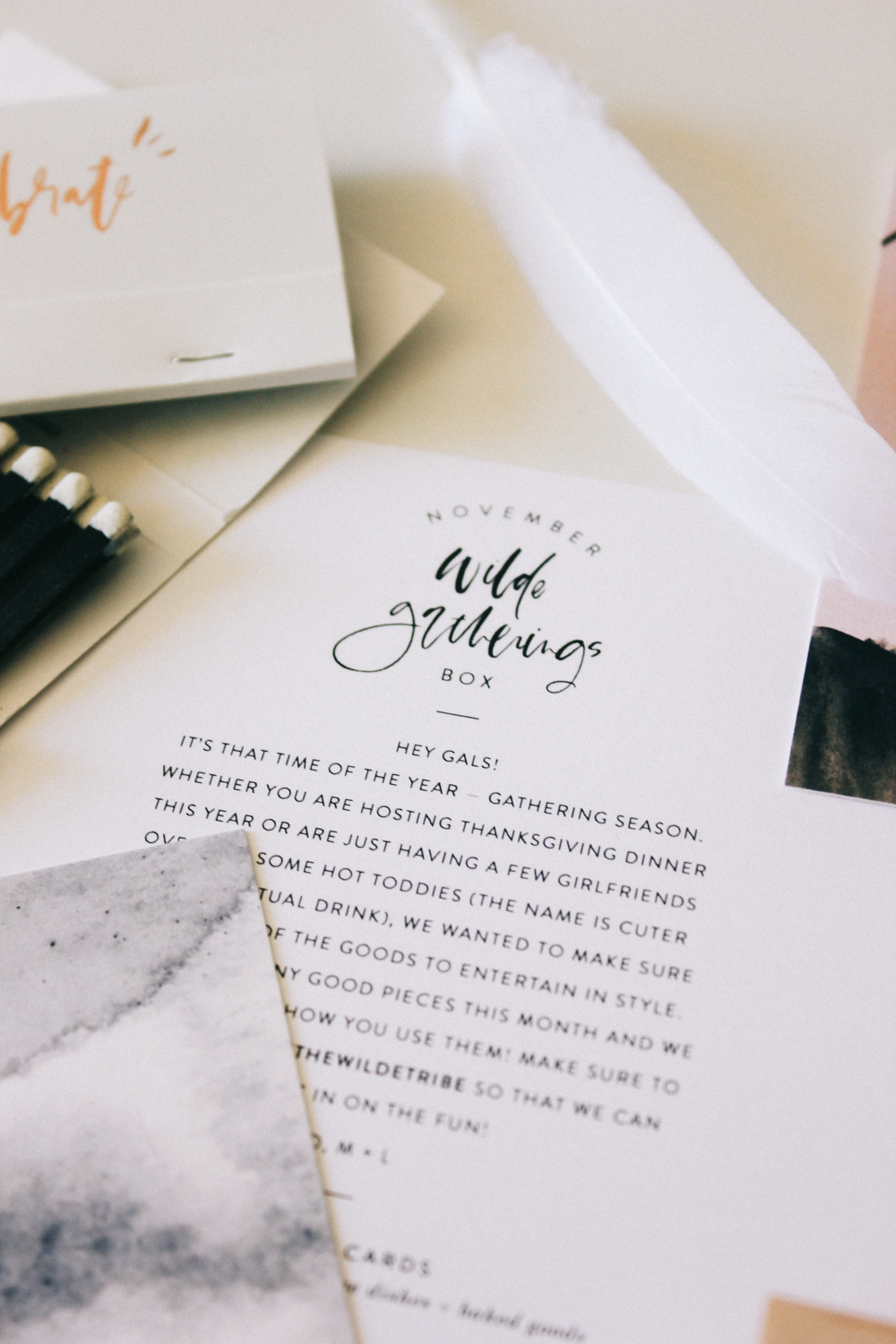 Wilde Gatherings November Stationery Box | Wilde House Paper