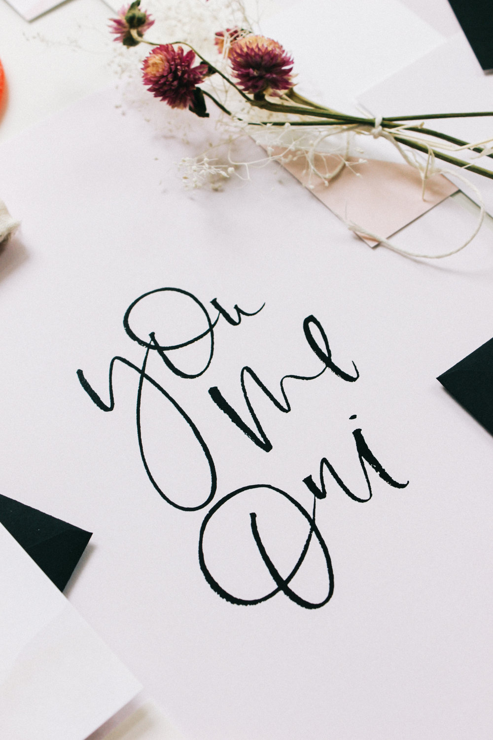 Wilde House Paper Stationery Subscription Box | You Me Out, hand lettered print