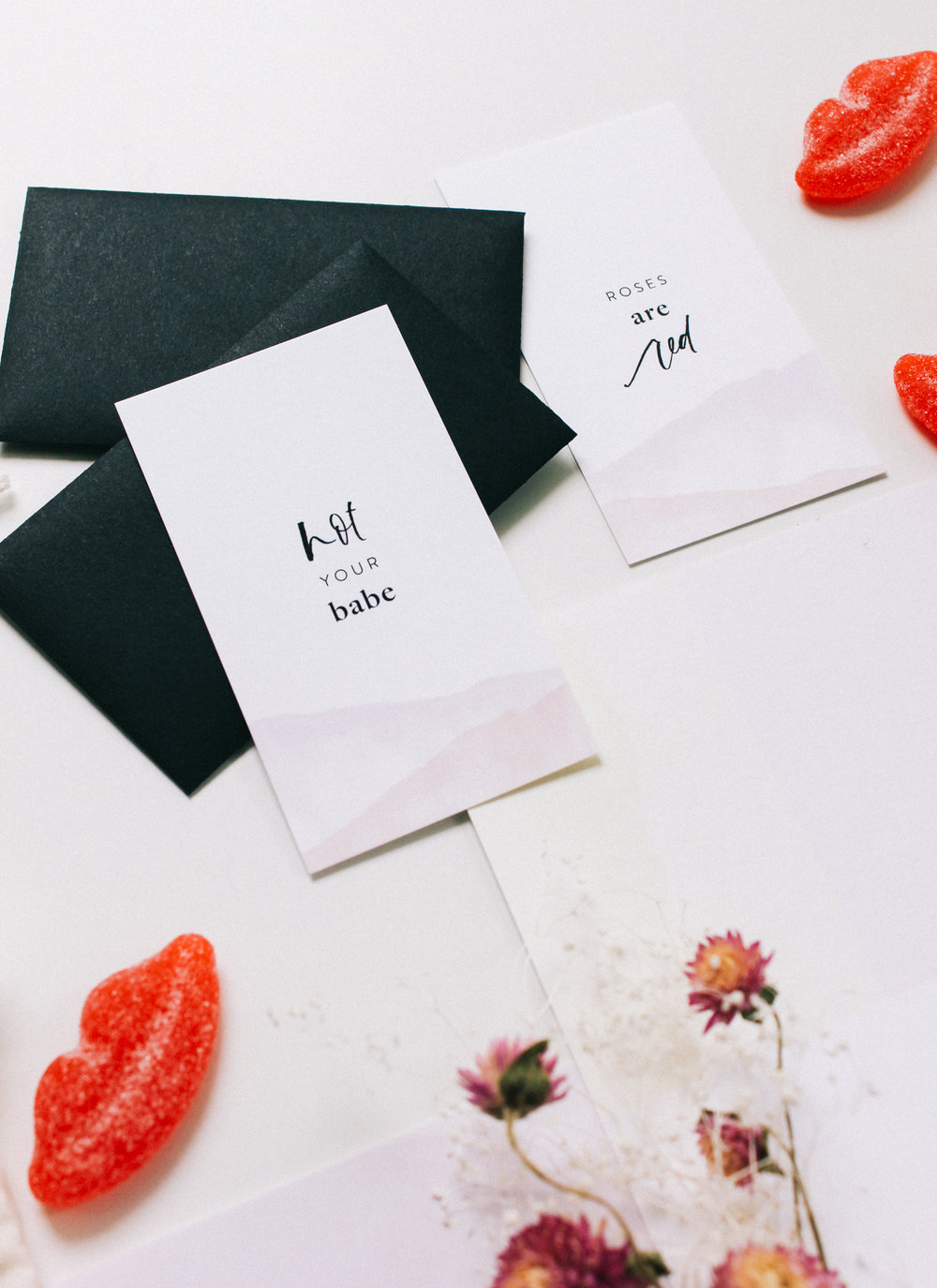 Wilde House Paper Stationery Subscription Box | Mini valentines with black envelopes