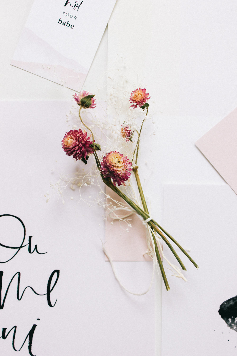 Wilde House Paper Stationery Subscription Box | Mini bunch of dried flowers