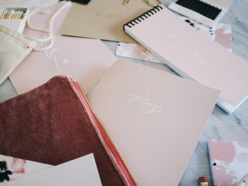 'Feelings' notebook, the perfect size for your travel bag! | Wilde House Paper