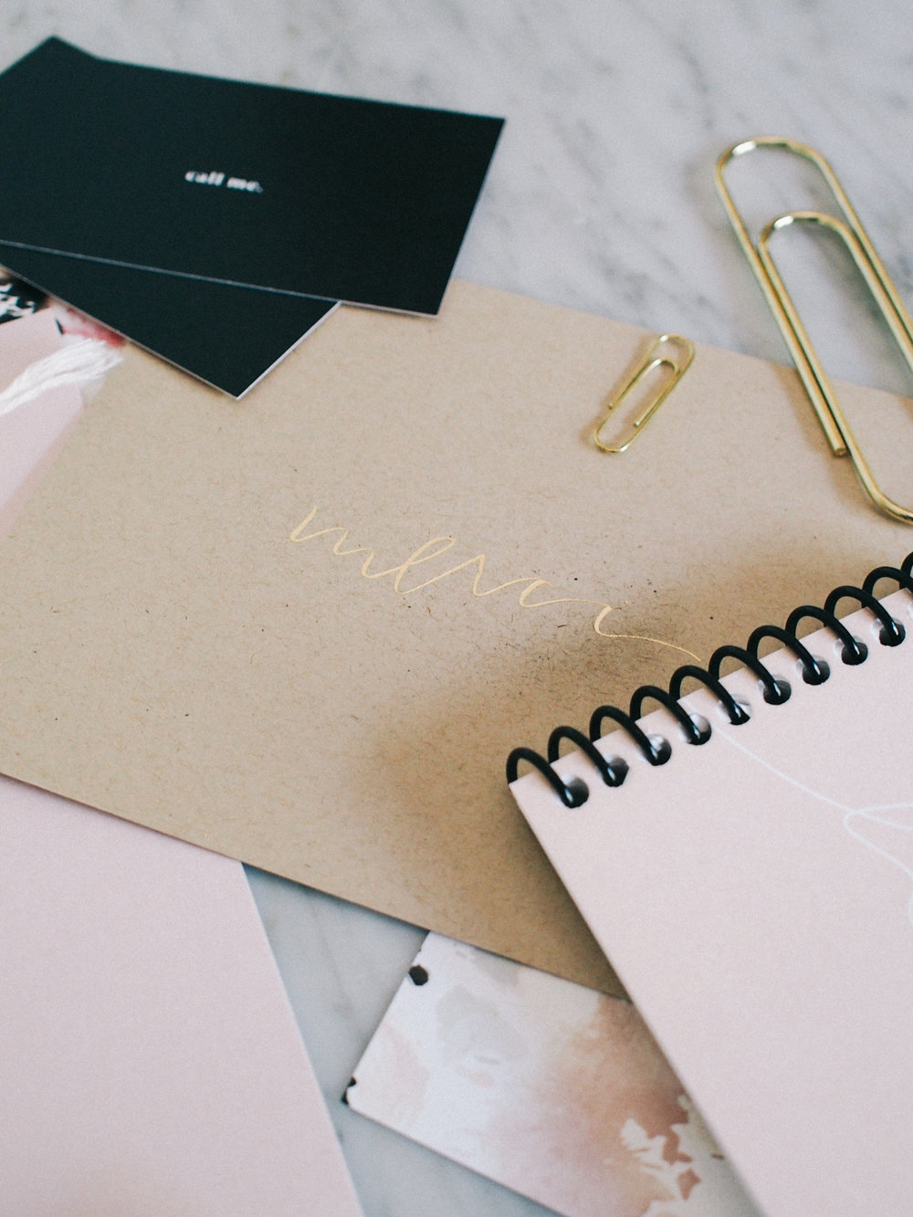gold foil thank you notes, you never know when you might need one so always keep a few on hand! | Wilde House Paper