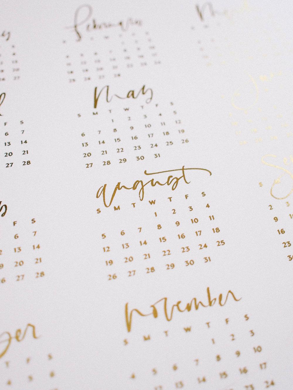 Wilde House Subscription Package // Gold Foil Calendar