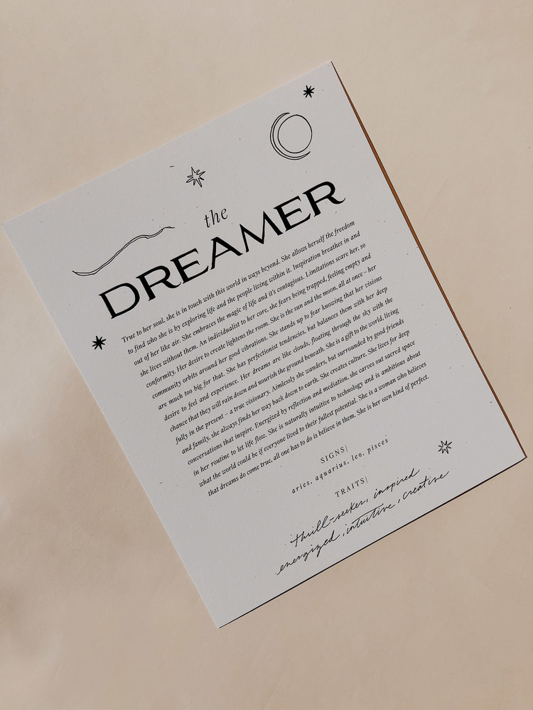 The Dreamer Art Print  $18