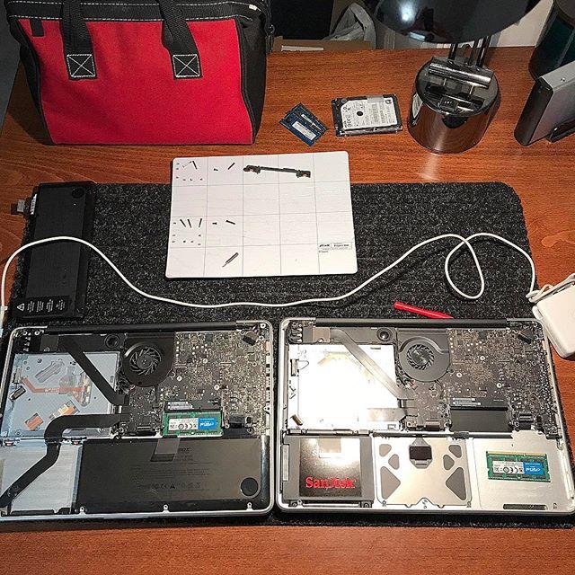 "Logic Board swap. MacBook Pro 13"" Unibody Mid 2012. #5280techs #5280techservices"