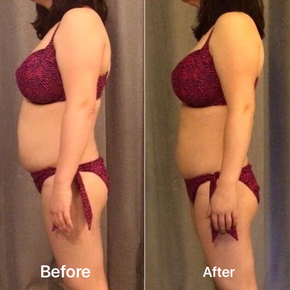 Lost 9 inches off her tummy in 6 weeks
