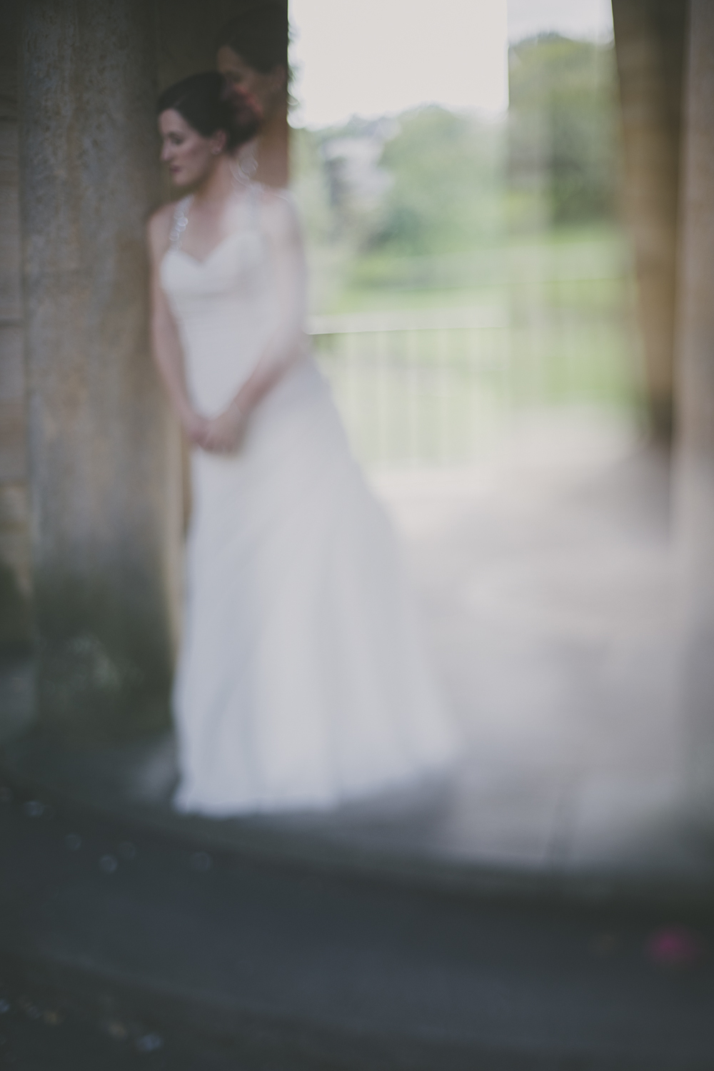 Double exposure of bride at The Graylyn, Greensboro, NC