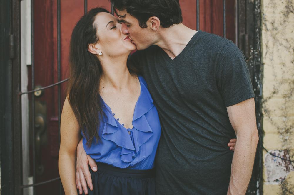 Martha and Matt sharing a kiss, Raleigh, NC