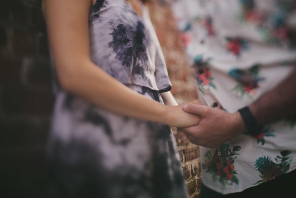 romantic wilmington engagement photo