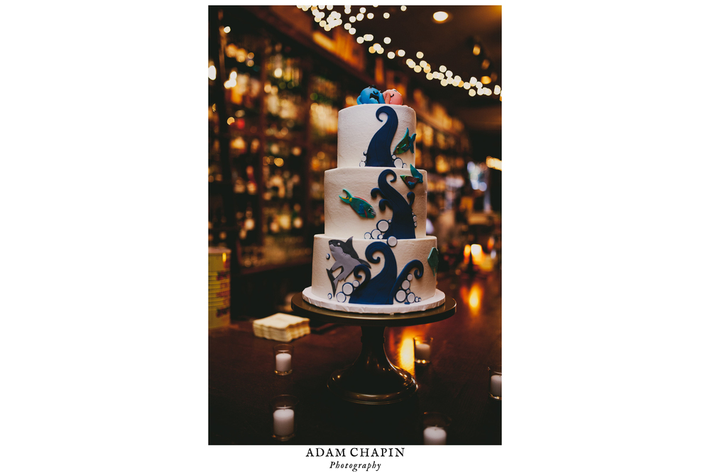 downtown Chapel Hill wedding cake