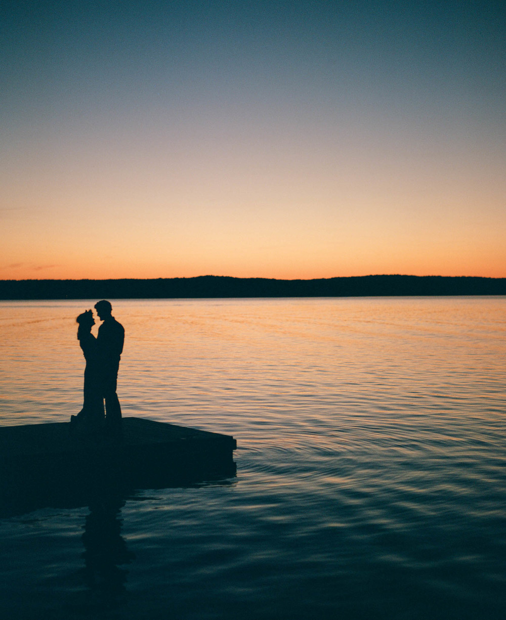 Couple at Sunset on Lake Jordan, Cary, NC