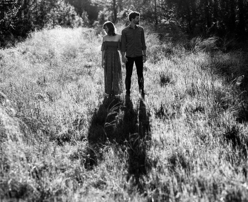 Heather and Trevor Shadows Cast across the Grass, Raleigh, NC