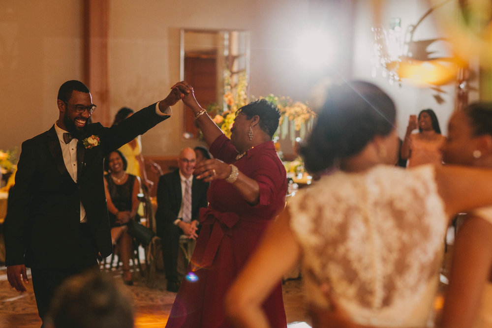 The groom and his mother dance the night away at this elegant Umstead Hotel and Spa wedding