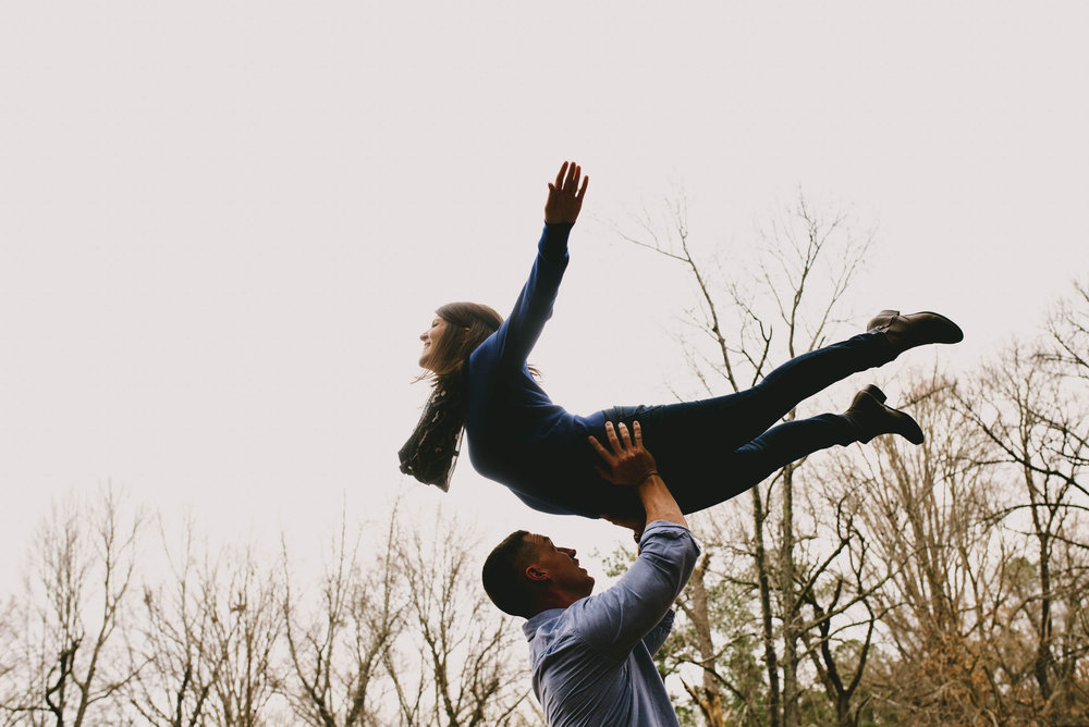 dirty dancing engagement photo raleigh nc